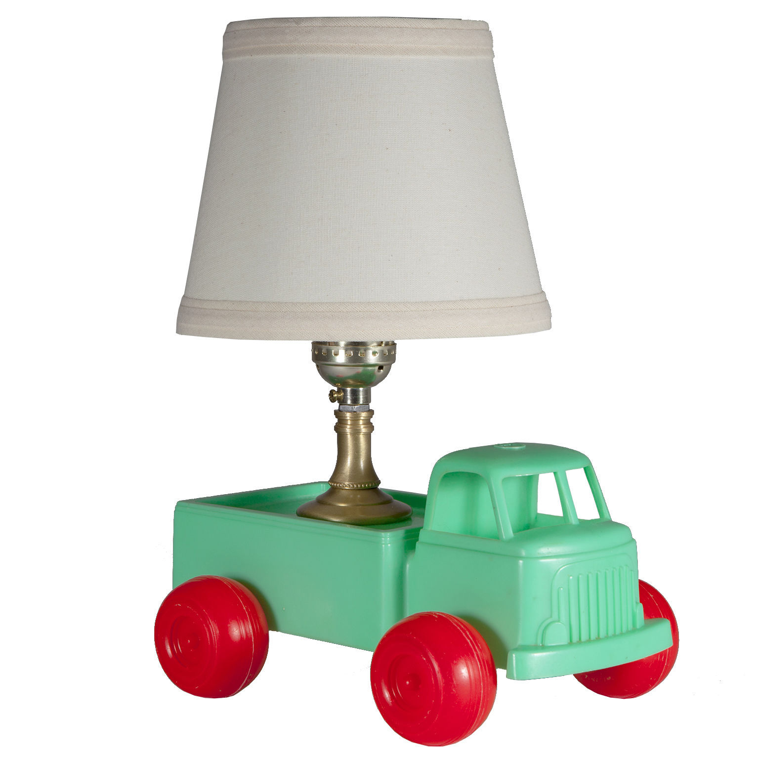 Mini Vintage Kids Green Truck Up Cycled Into Unique Lamp
