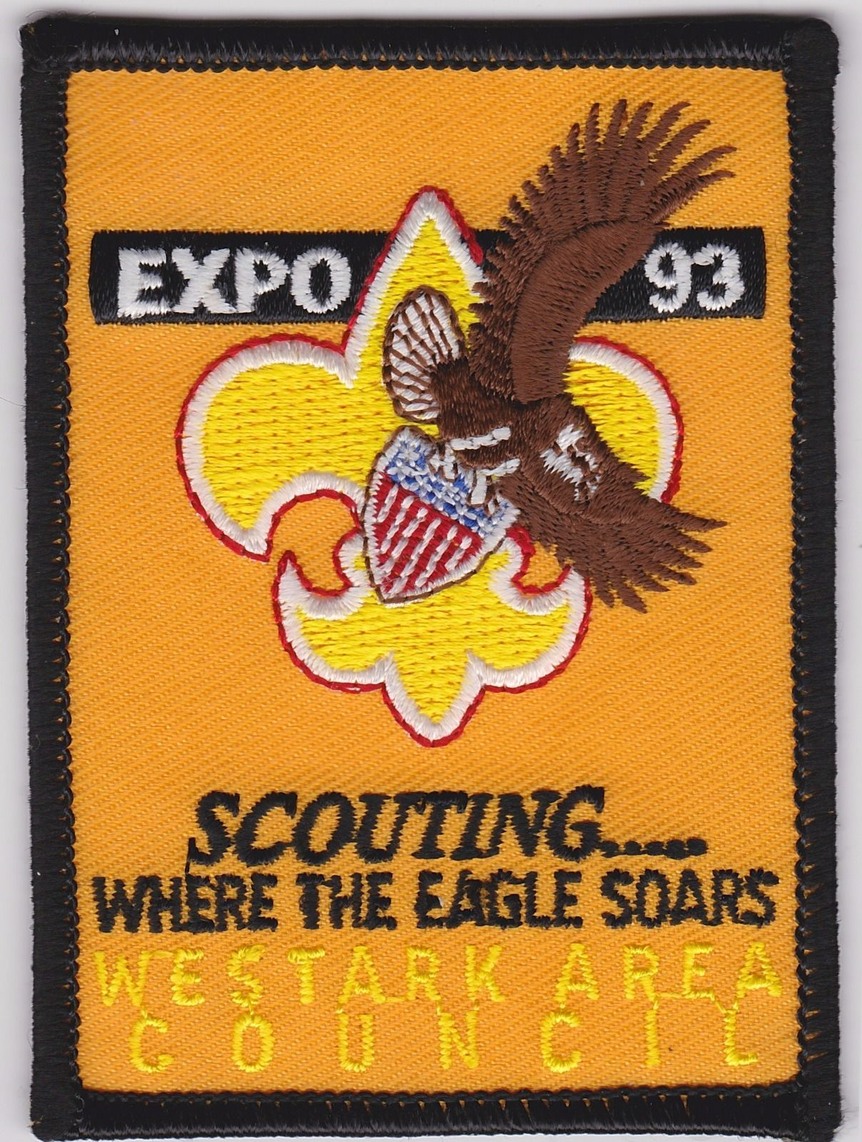 Westark Area Council Patch - 1993 Expo - Scouting Where The Eagle Soars