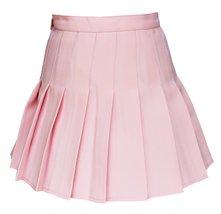 Beautifulfashionlife Women's High Waist Solid Pleated Mini Skirt(M , Pink) - $19.79