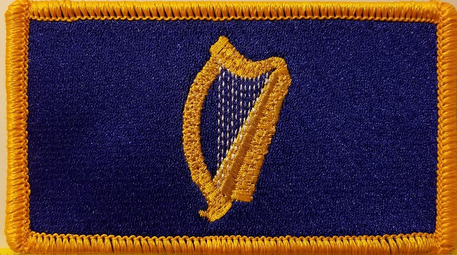 Standard of the President of Ireland Flag Iron-On Patch Emblem Gold Border #5