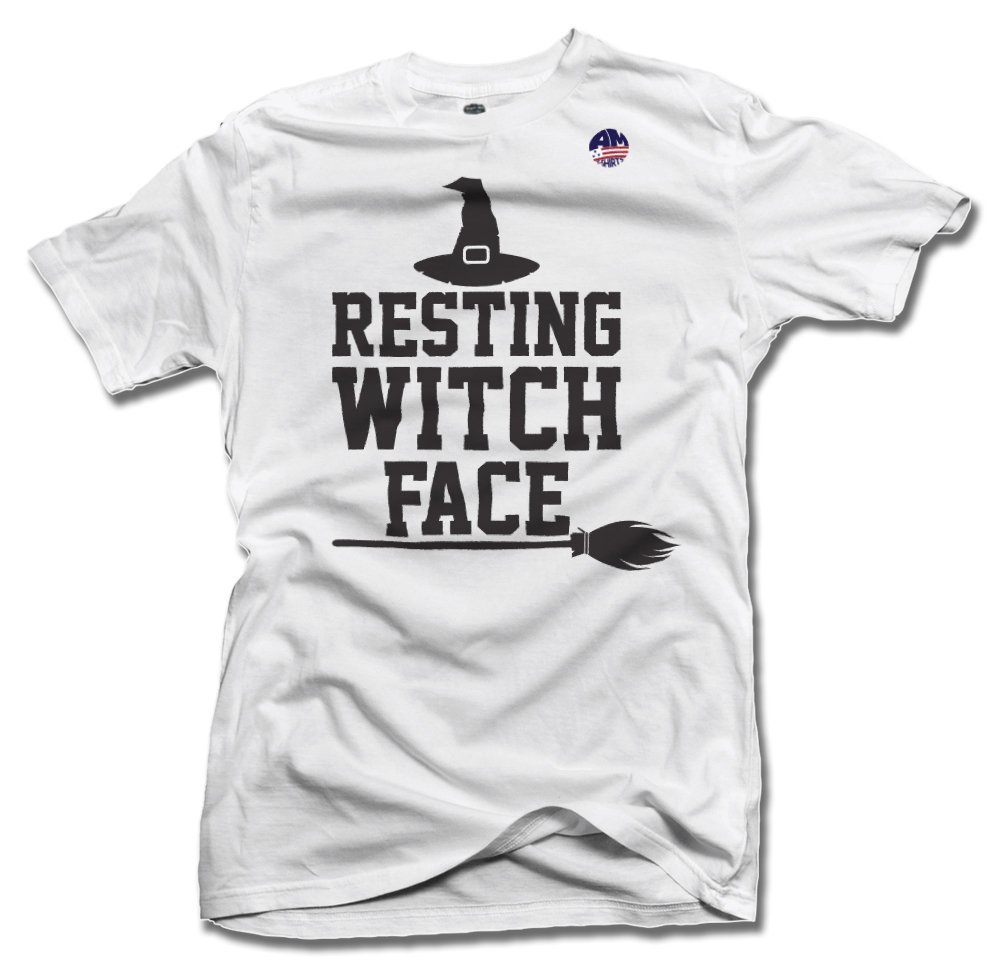 RESTING WITCH FACE 4X White Men's Tee (6.1oz)