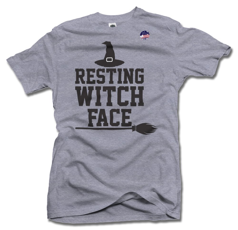 RESTING WITCH FACE 5X Ash Men's Tee (6.1oz)