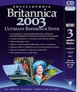 Encyclopedia Britannica 2003 Ultimate Reference Suite - $14.70