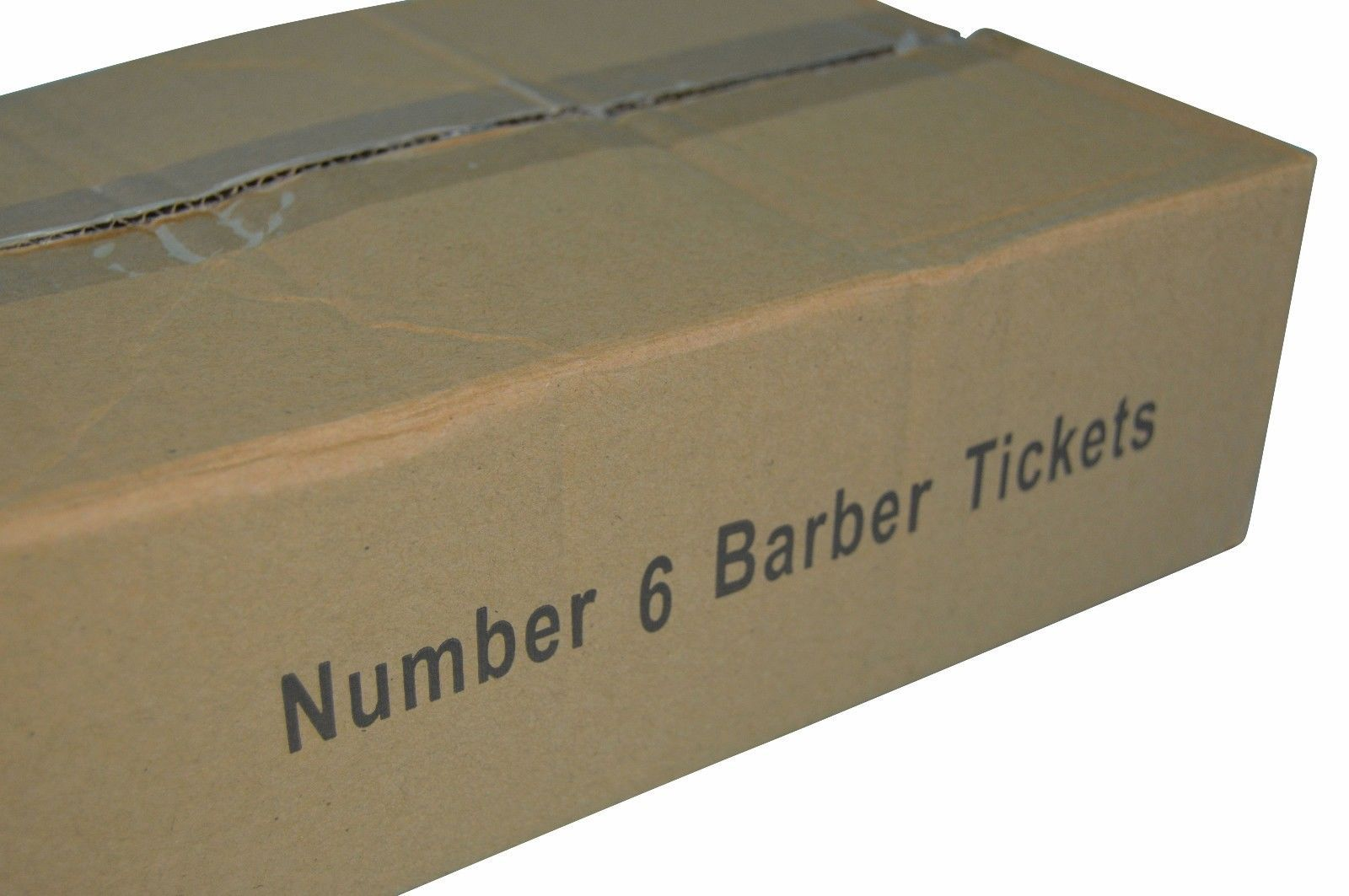 100 Numbered Barbershop Check Pads NUMBER 6