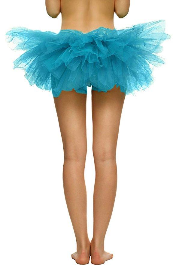 Adult Women's 5 Layered Tulle Fancy Ballet Dress Sexy Tutu Skirts