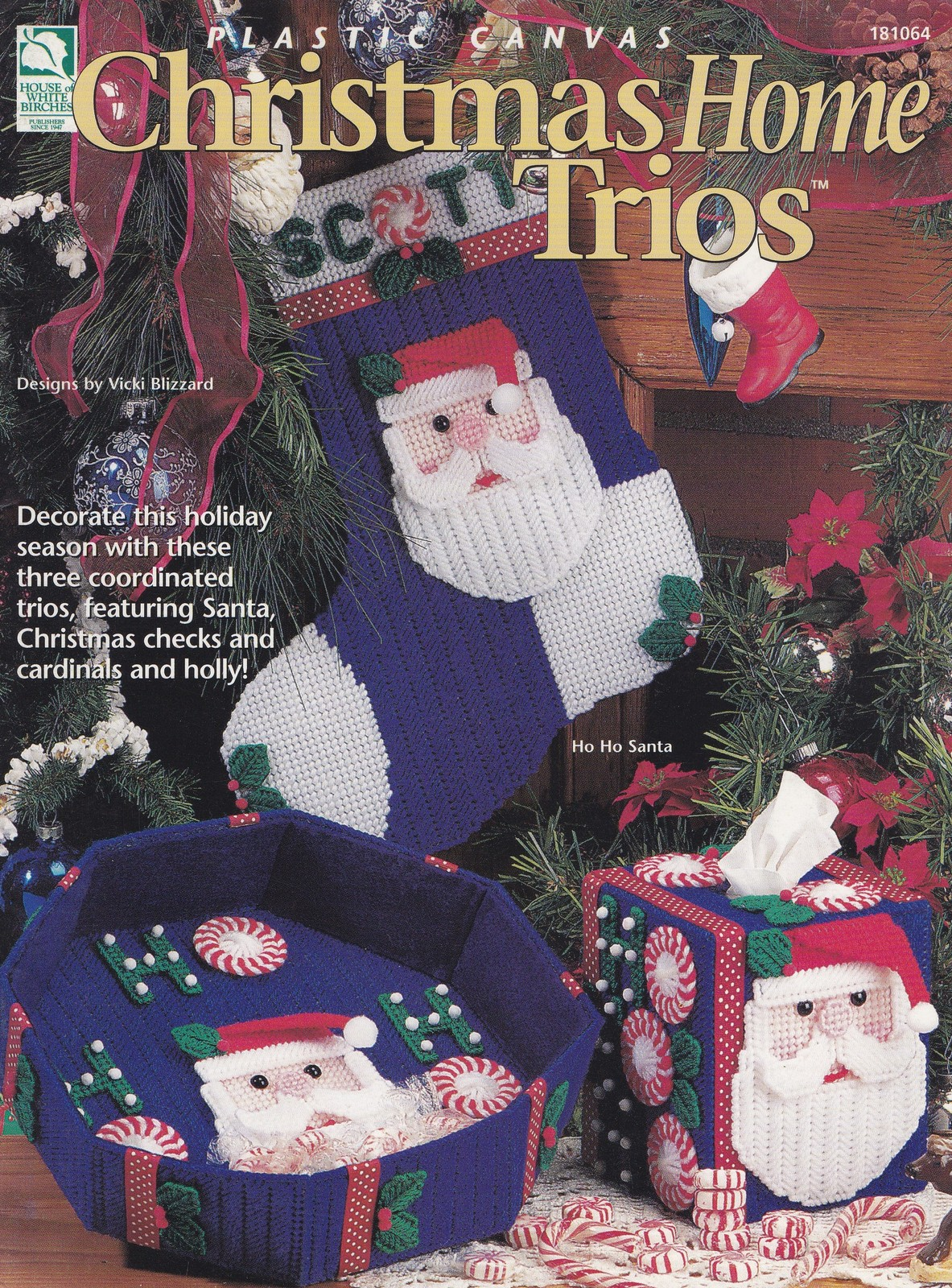 Christmas Home Trios, Plastic Canvas Pattern Booklet HWB 181064 Cardinals & More