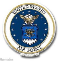 "AIR FORCE USAF MILITARY LOGO 5"" FRIDGE MAGNET M... - $18.98"