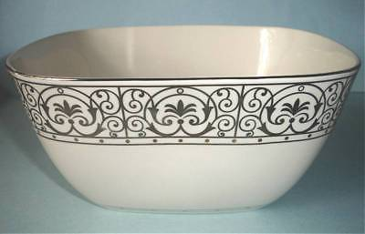 "Lenox Windsor Gold Square Serving Bowl 9.25"" Scroll Motif $143 Boxed New"