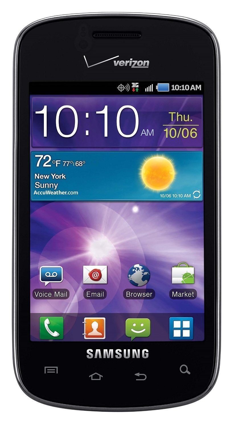 Samsung Illusion I110 Verizon CDMA Prepaid Android Cell Phone - Black/Silver