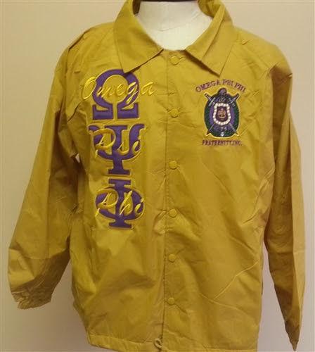 Omega Psi Phi Fraternity Line Jacket Gold Omega Psi Phi Line Jacket M-5X