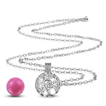 Eudora 18mm Plated Silver Harmony Bola Ball Peach Tree Locket Cage Penda... - $20.43
