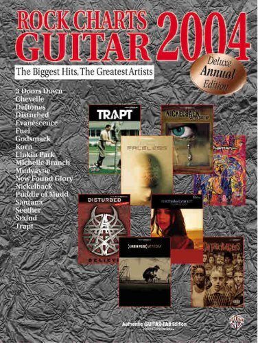 Rock Charts Guitar 2004: Authentic Guitar TAB Alfred Music