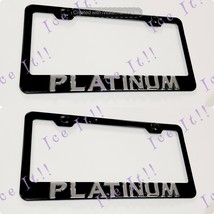 2X 3D For PLATINUM Cadillac Emblem Black Stainless Steel License Plate Frame - $39.59
