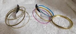 Avon Hawaiian Shores  Bangle Bracelet Set - 7 Bangles Size Small - New I... - $14.01
