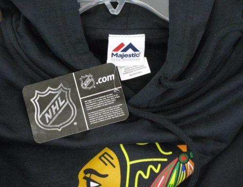 CHICAGO BLACKHAWKS Size XXL New Black Hoodie Sweatshirt NWT