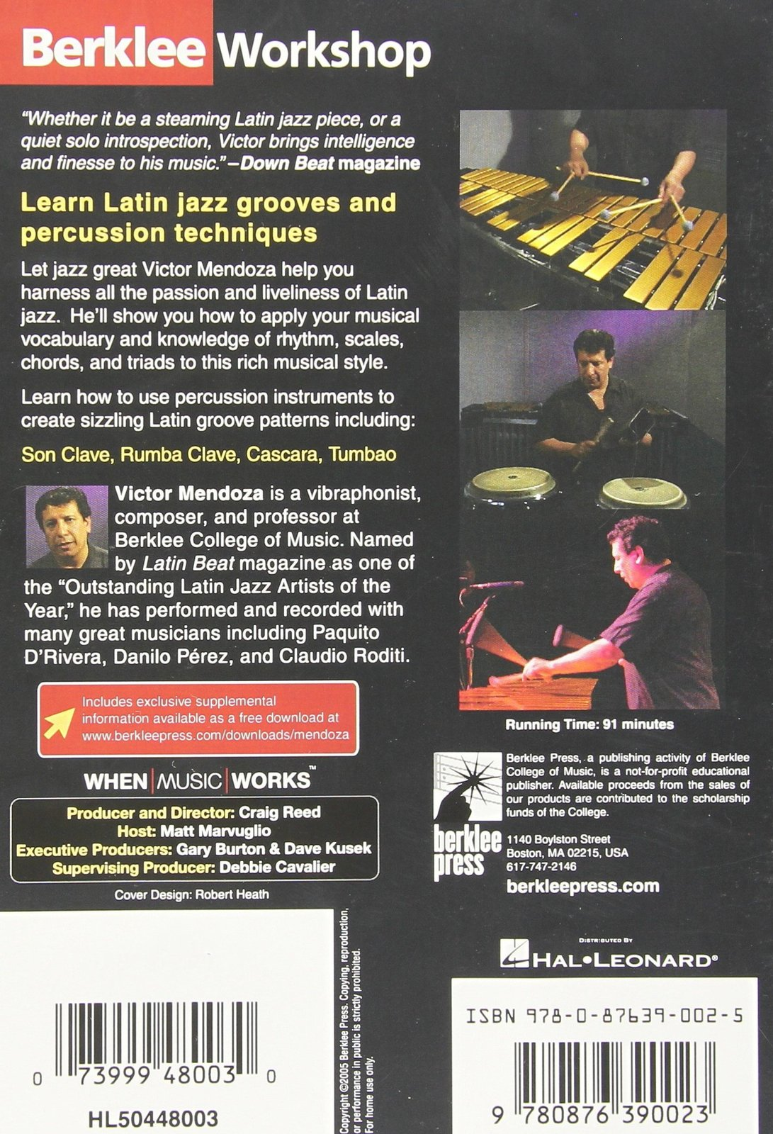 Latin Jazz Grooves Featuring Victor Mendoza [DVD]