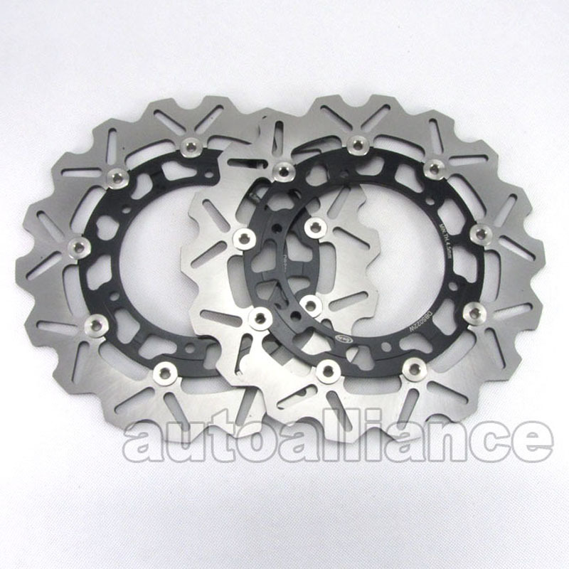 Black Front Brake Disc Rotor Pad For Yamaha YZF600R YZF1000R XJR1300 BT BULLDOG