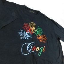 Coogi Black T Shirt Colorful Embroidered Hand Ring Chains Sz 4XL - $26.99