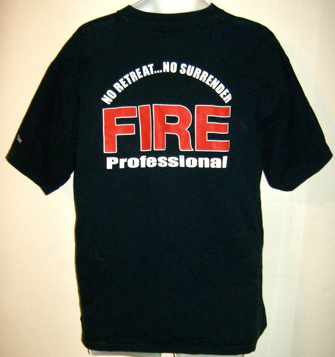 Alore Mens XL T-Shirt Navy California Professional Firefighters Made in USA