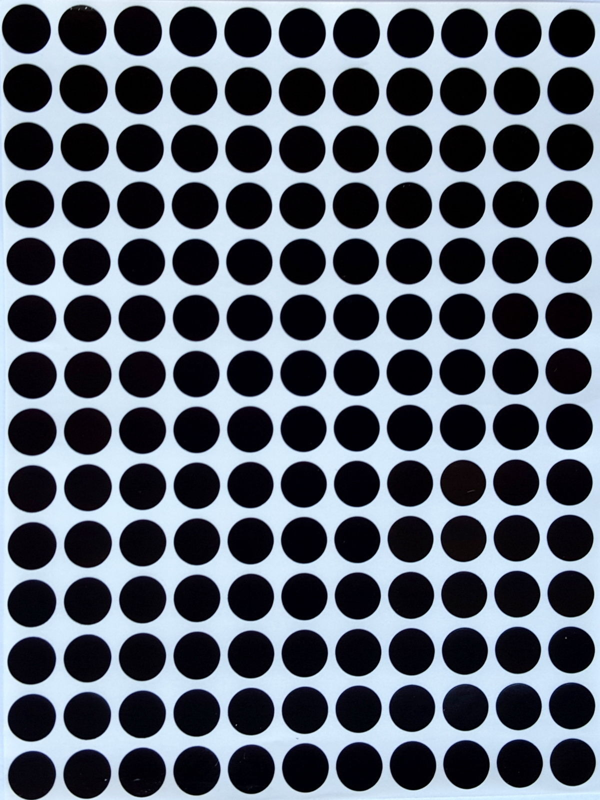 Small Dot Stickers 3/8 Inch Circle Labels 0.375 Size 10 mm 2100 Pack 15 Sheets