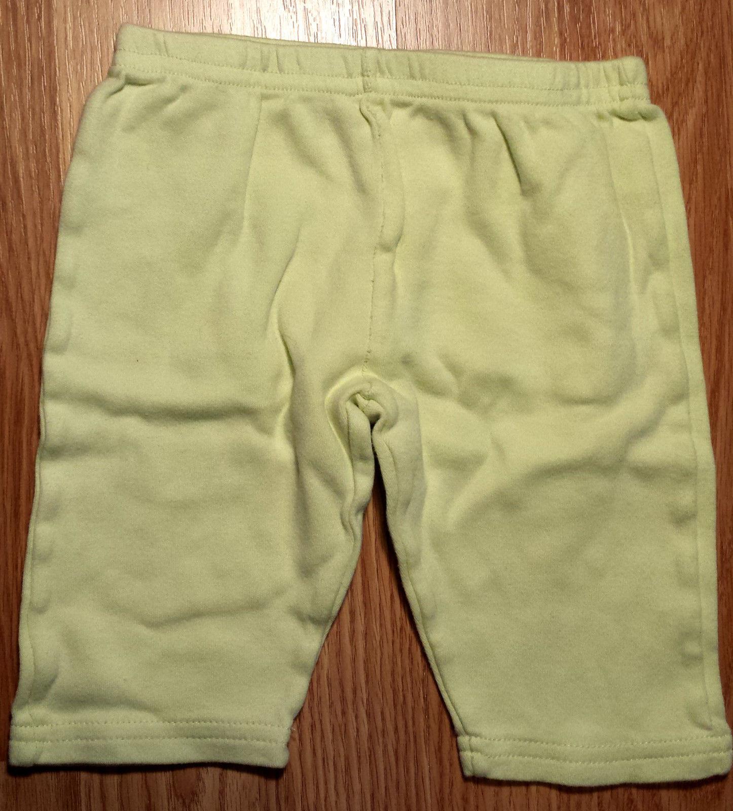 Boy's or Girl's Size 3-6 M Months 2 PC White Turtle Polka Dot Top & Green Pants