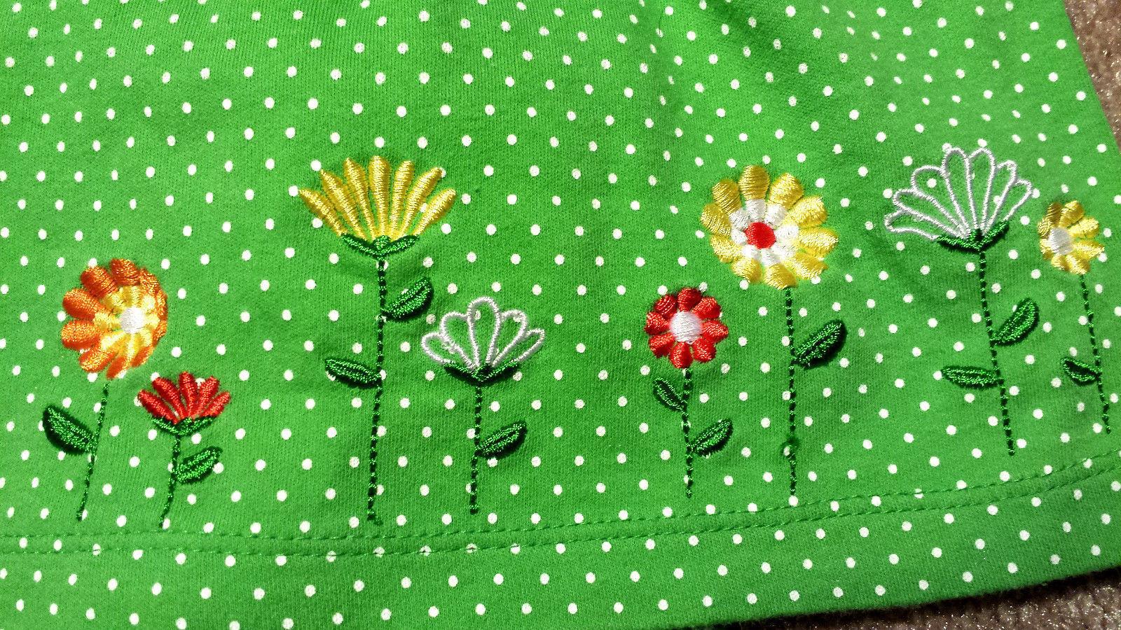 Girl's Size 3 M 0-3 Months Two Piece Carter's Green Floral Dress & Capri Pants