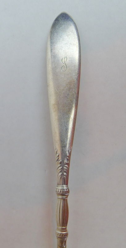 Rogers Bros Teaspoon Monogrammed  S Silverplate early 20th Century