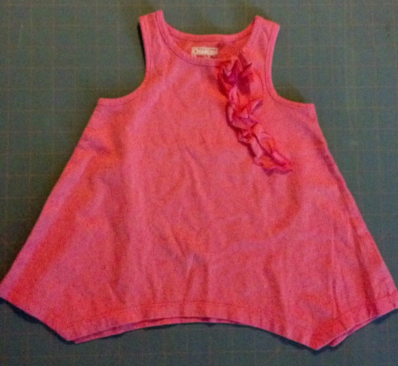 Girl's Size 18 M Months 2 Piece Pink Ruffled Osh Kosh Top & Garanimals Pants