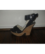 Michael Kors New Black Ankle Wrap Platform Sandals Heels Medium  (B,M)   10 - $110.00