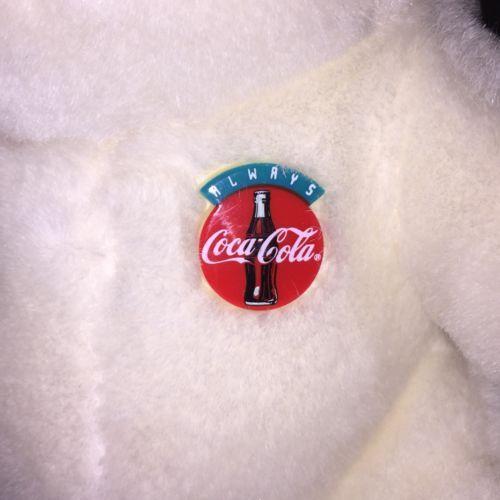 Vintage 1992 Coca-Cola Coke Stuffed Plush Polar Bear