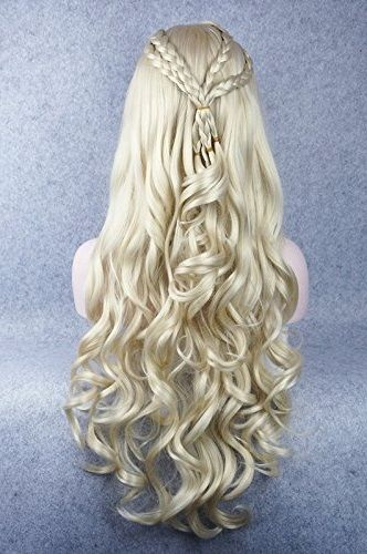 Khaleesi Platinum Blonde Wig Silver Mother Of Dragons Daenerys Targaryen Hair
