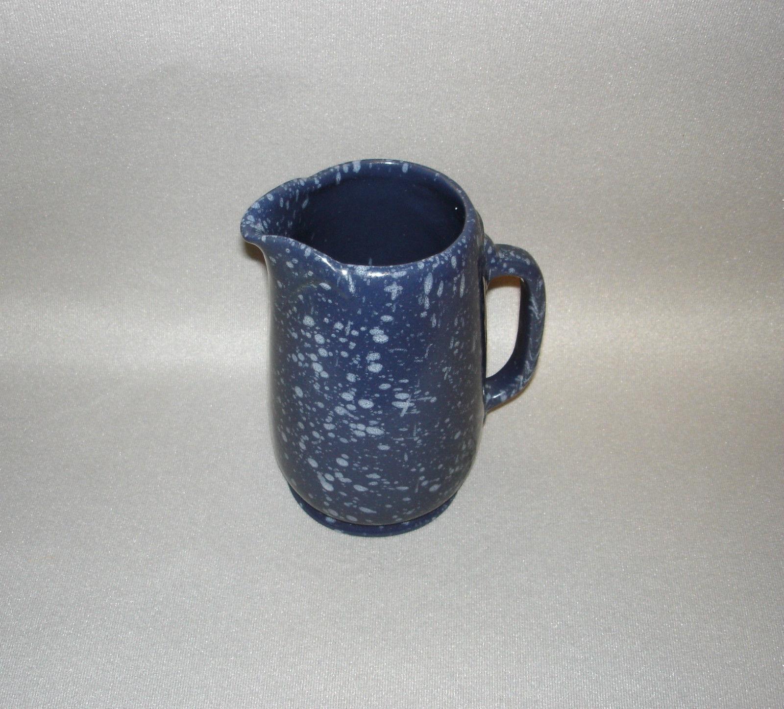 Frankoma #81 One Quart Blue Spatterware Pitcher