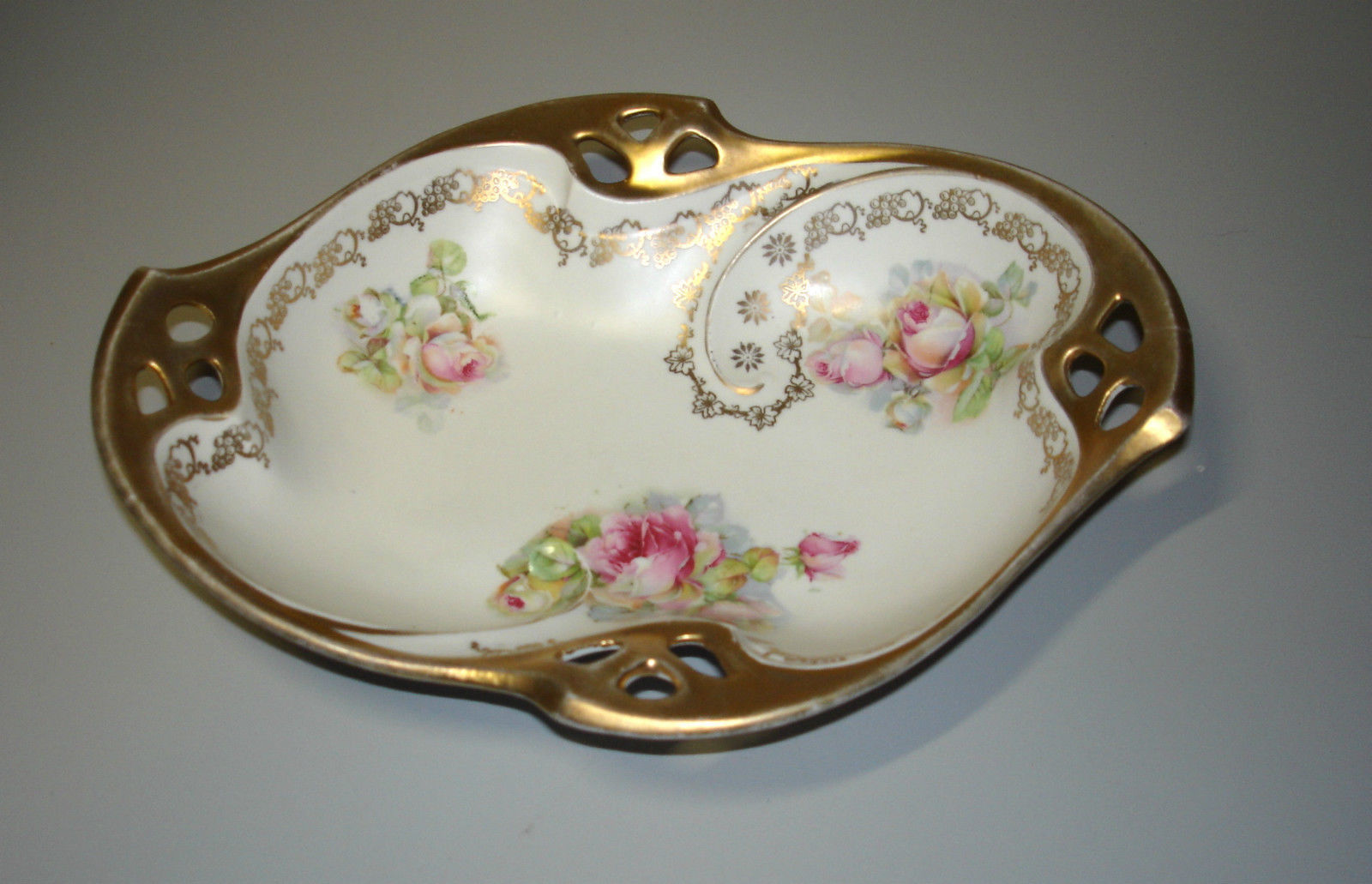 Dish Made in Germany Heavy Gold Rim