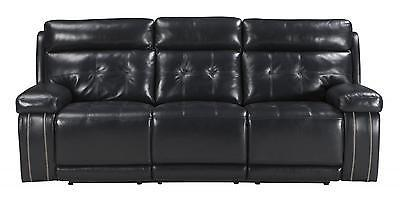 Ashley Graford Living Room Power Reclining Sofa in Navy Contemporary Style