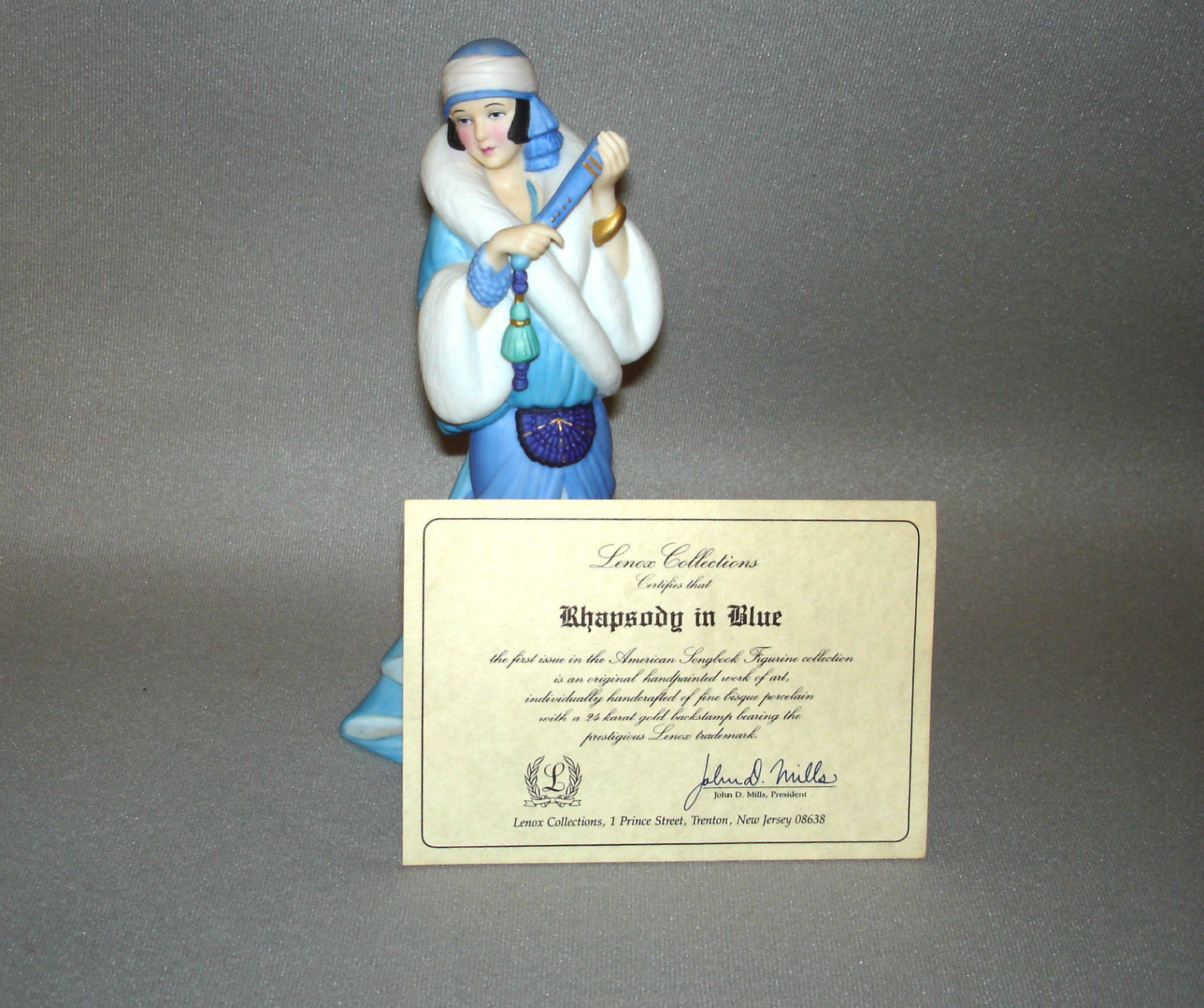 LENOX -  Rhapsody in Blue -  American Songbook Figurine Collection 1st Issue