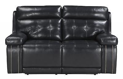 Ashley Graford Living Room Power Reclining Loveseat in Navy Contemporary Style