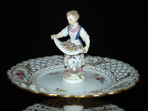 Meissen 19th C Tiered Server & Matching Compotes (Museum Quality)
