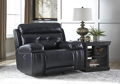 Ashley Graford Living Room Power Rocker Recliner in Navy Contemporary Style