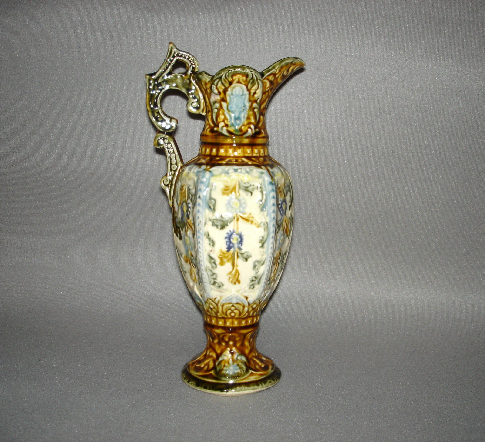 Antique Majolica Ewer 12""