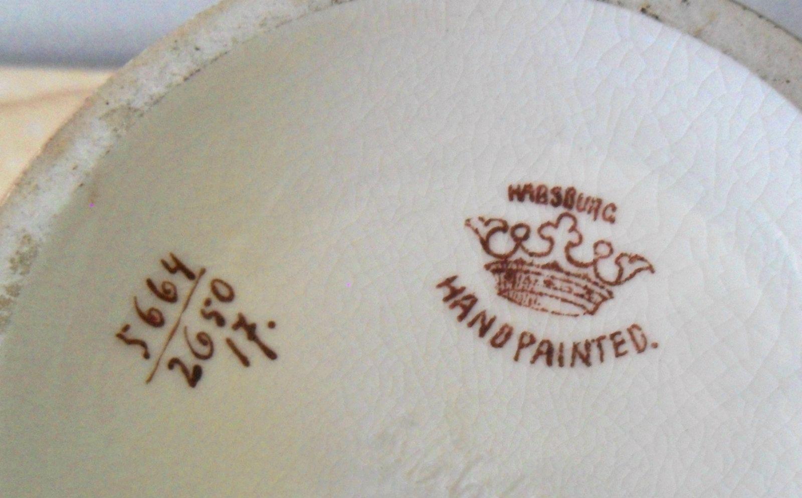 """Habsburg Austria Hand Painted Vase 7.5"""" tall"""