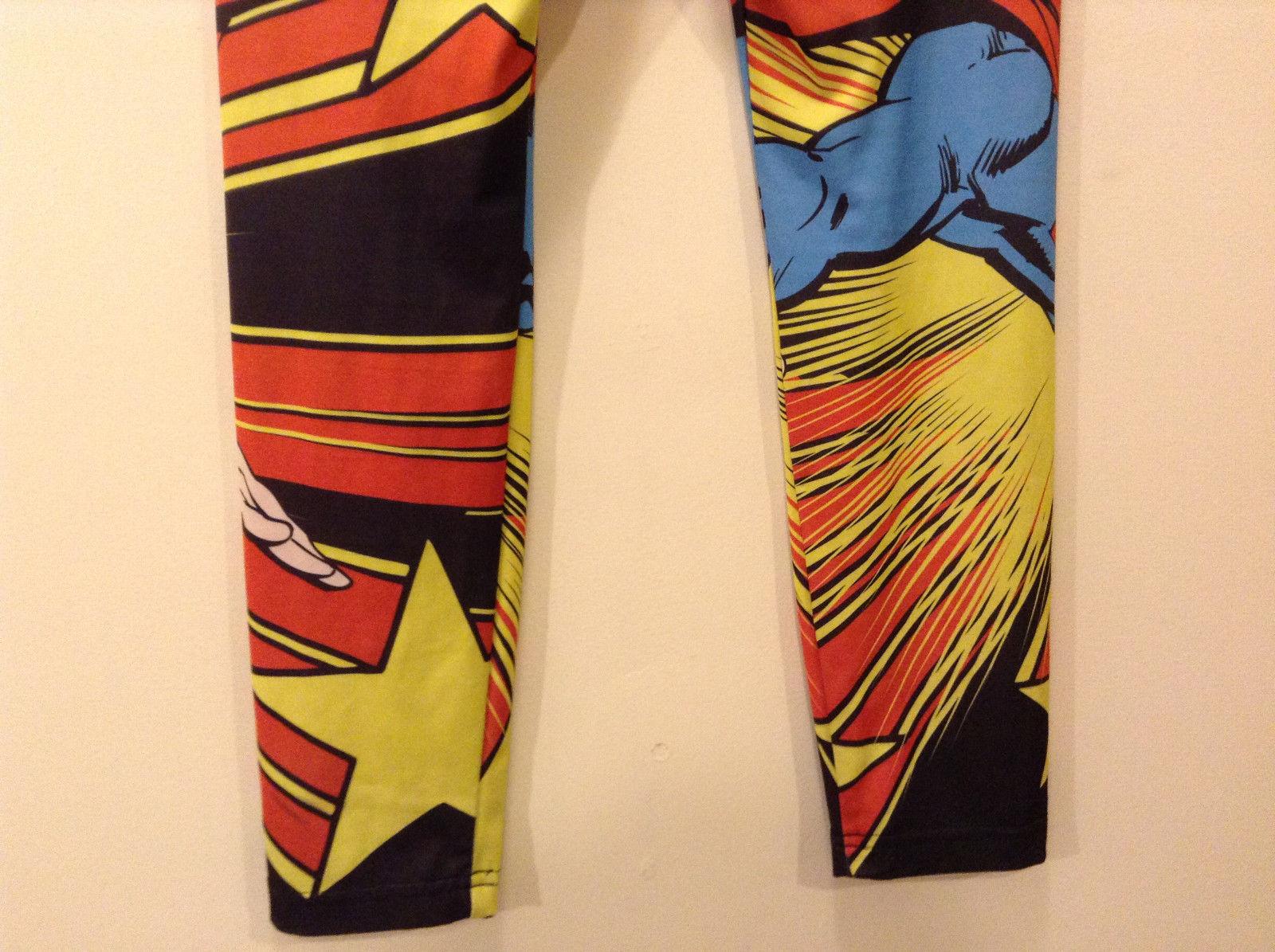 Boys Superman Super Hero Comic Character Elastic Leggins Size L