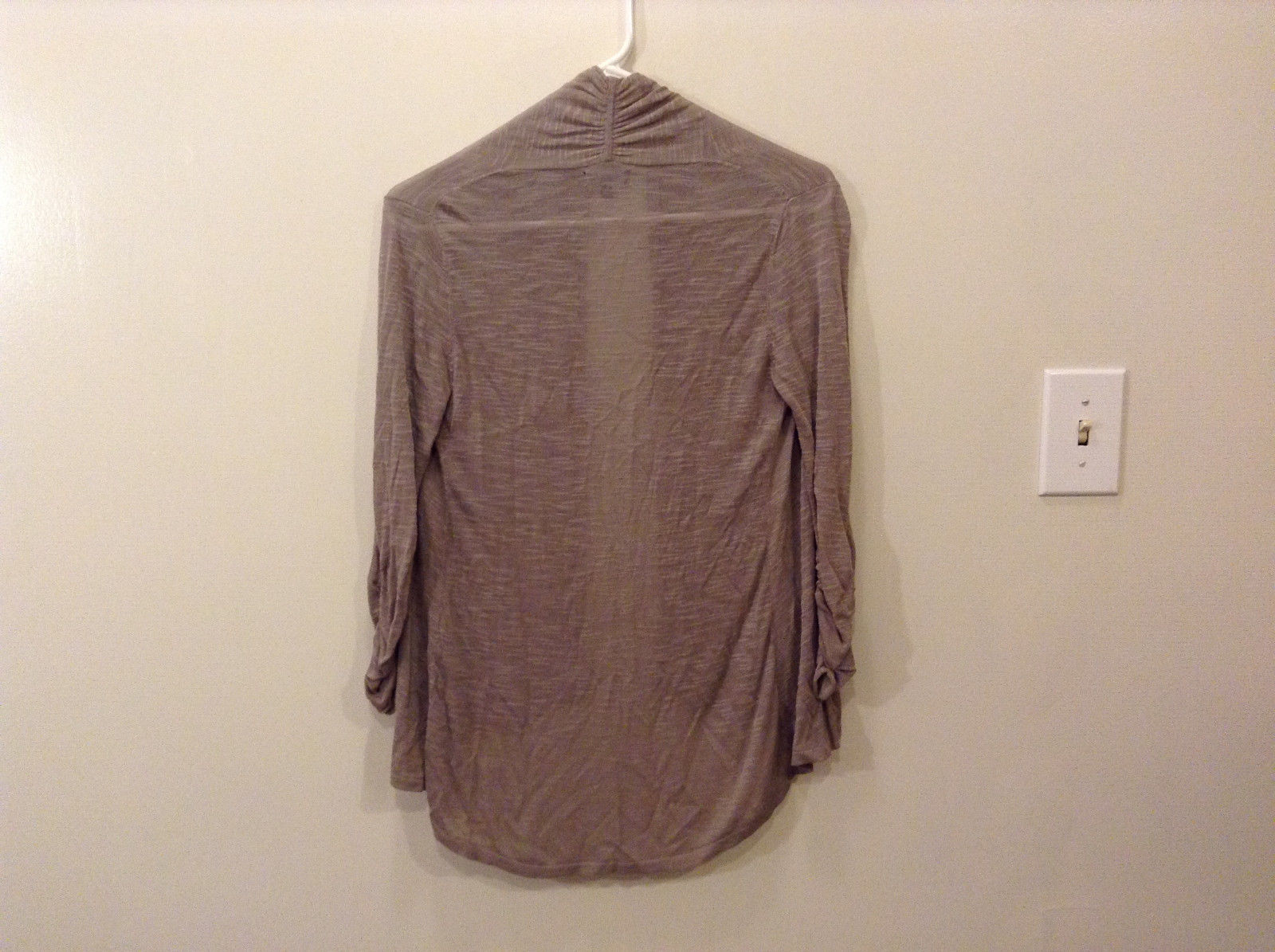 Express Gray Sweater Cardigan No Closure 3/4 Sleeve Size XS