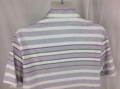 Vintage MUNSINGWEAR PENGUIN Mens XL 100% Pima Cotton POLO Shirt MASTERS Striped
