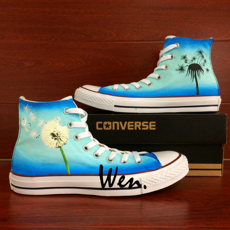 Men Women's Converse All Star Dandelion Original Design Hand Painted Shoes