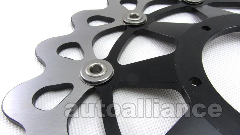 Front + Rear Brake Disc Rotor + Pad for Suzuki GSX1300R GSXR1300 Hayabusa 99-07