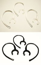 Large Ear Hooks (3 Clear & 3 Black) for Bluetooth Headsets - $2.93