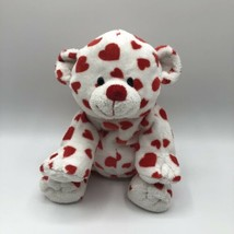 "Ty Pluffies Dreamsy Plush Bear White Red Hearts100% TyLux 2007 9"" - $14.84"