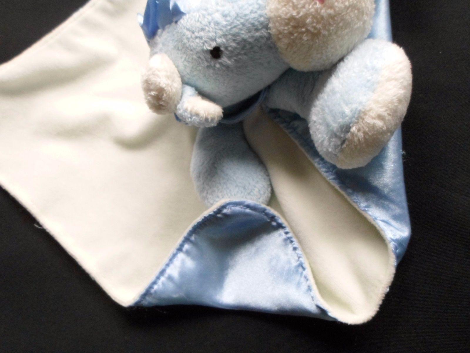 BESTEVER Blue White Giraffe Horse Security Blanket Velour Satin Lovey Baby