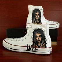 Sneakers Men Women's Converse All Star Skull Original Design Hand Painte... - $149.00