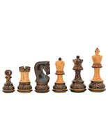1959 Reproduced Russian Zagreb Series ChessPieces in Burnt/Natural BoxWo... - $191.99